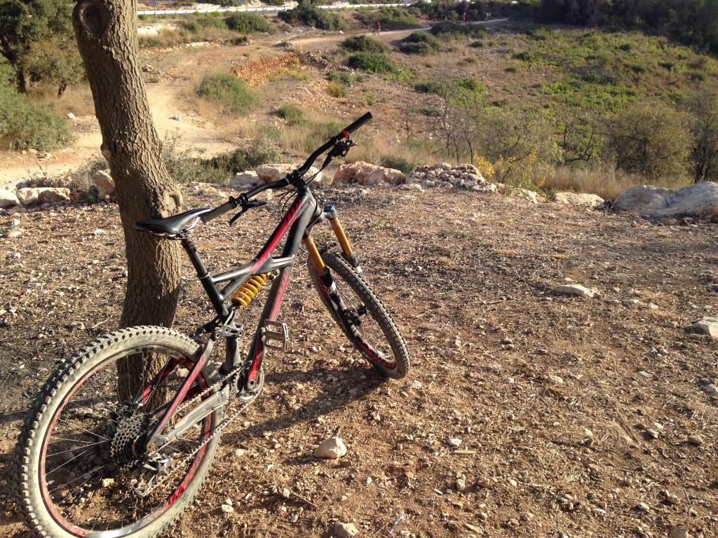 Start of the Alon mountain bike trail, Carmel, Israel