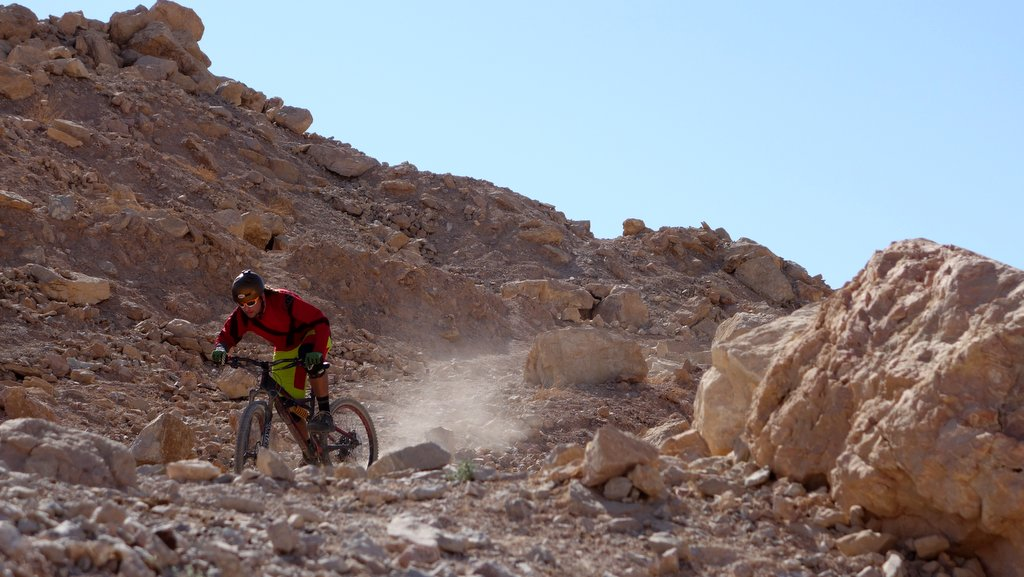 MTB ride to the dead sea - mostly down the hill