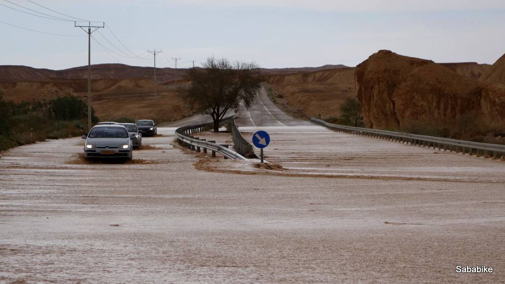 Flash floods in the Negev desert