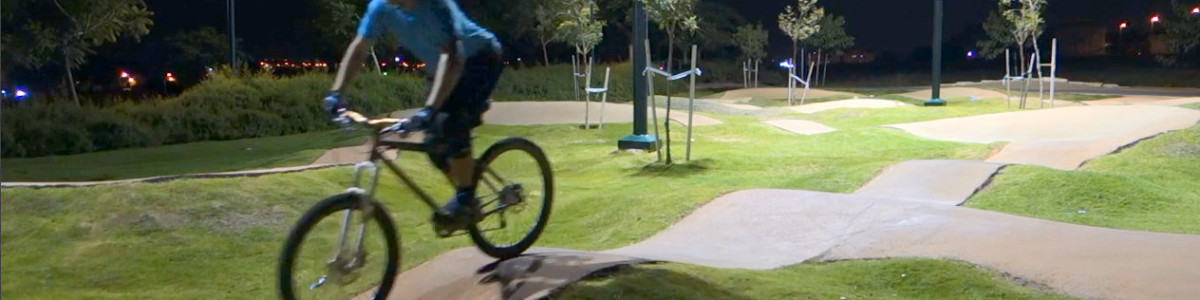 Showing how foot work works @ the pumptrack